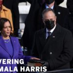 Kamala Harris 'walking to work' and into history